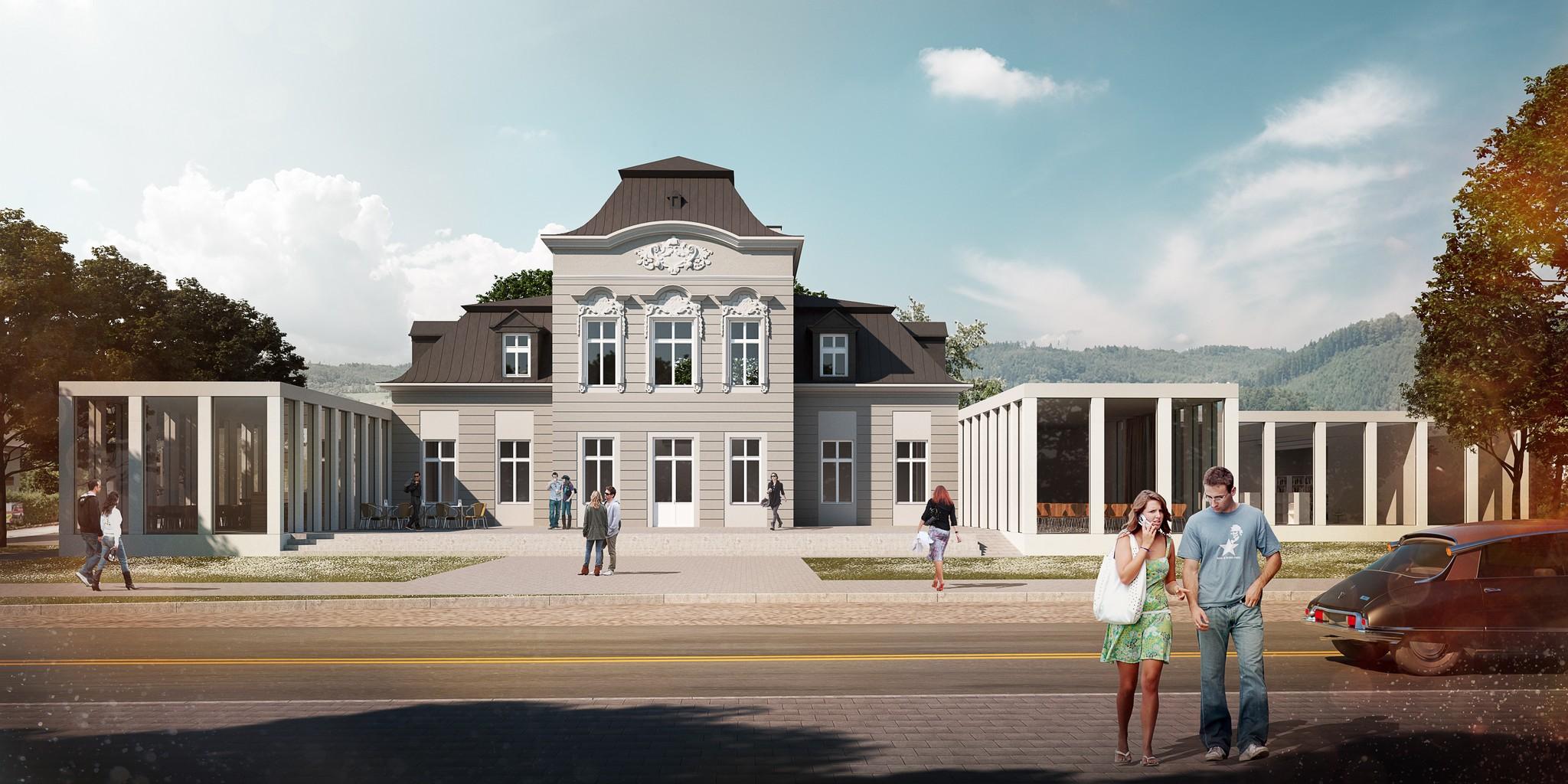Přístavba knihovny v Rožnově pod Radhoštěm